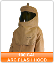 100 cal Arc Flash Hoods