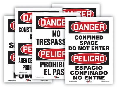 Bilingual Danger Signs