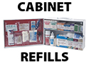 First Aid Cabinet and Kit Refills