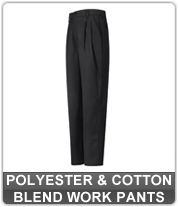 Polyester and Cotton Blend Work Pants