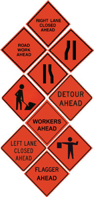 Non-Reflective Solid Roll-Up Signs
