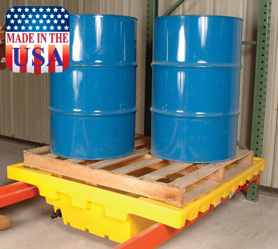 Warehouse Rack 66 Gallon Containment Sump