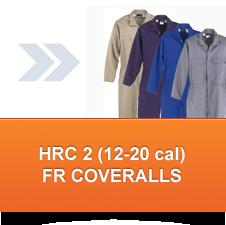 HRC 2 FR Coveralls (12 - 20 cal/cm²)