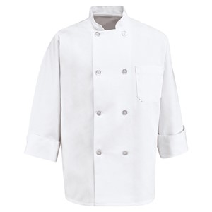 Classic Eight Pearl Button Chef Coat