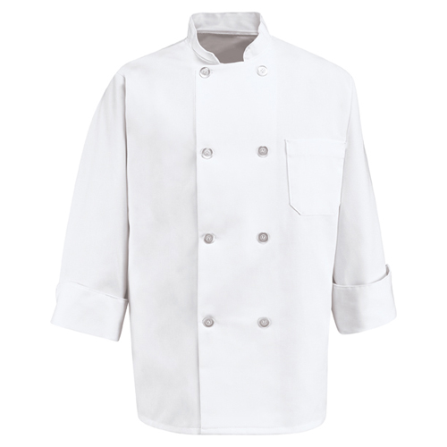 Deluxe Eight Pearl Button Chef Coat