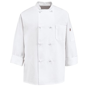 Deluxe Eight Knot Button Chef Coat