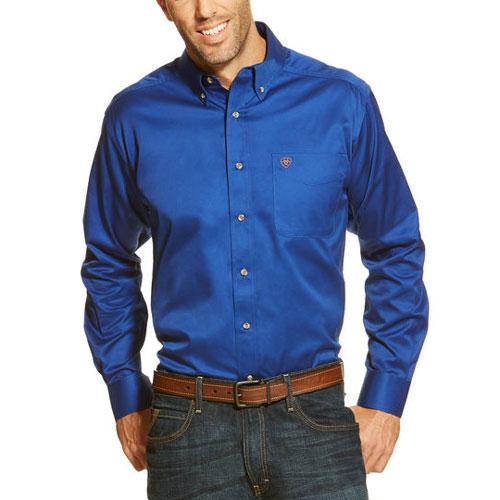 Ariat Solid Twill Shirt in Ultramarine