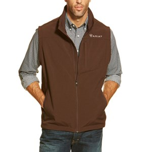 Vernon Softshell Vest in Coffee Bean