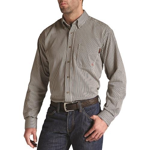9704029e1153 Ariat FR Stripe Work Shirt in Coffee Bean - 10013511