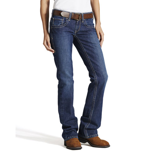Women's Ariat FR Mid Rise Boot Cut Jean