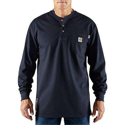 e5809b6d084830 Carhartt FR FORCE Cotton Long-Sleeve Henley - 100237