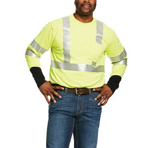 Hi-Vis FR Long Sleeve Crew