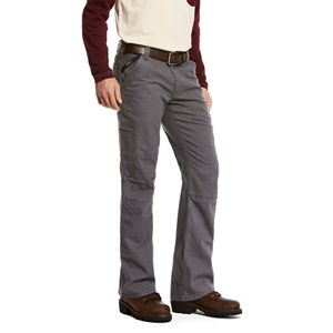 Ariat FR M5 Slim Stretch DuraLight Canvas Stackable Straight Leg Pant in Iron Gray