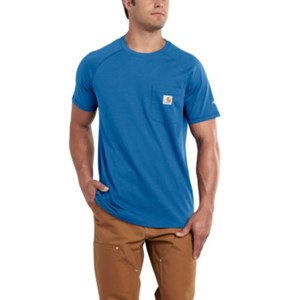 Carhartt FORCE Cotton T-Shirt in Cool Blue