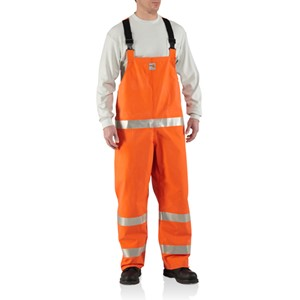 Carhartt FR Rain Bib Overall with Reflective Stripes