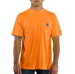 Force Color Enhanced Short Sleeve T-Shirt in Bright Orange