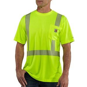 Class 2 Hi-Vis Force Short Sleeve T-Shirt  - Bright Lime