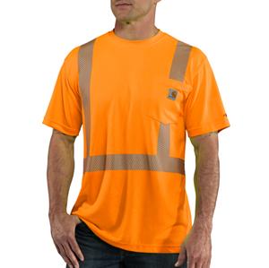 Class 2 Hi-Vis Force Short Sleeve T-Shirt  - Bright Orange
