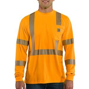 Force Class 3 Hi-Vis Long Sleeve T-Shirt  - Bright Orange