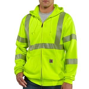 Hi-Vis Class 3 Zip-Front Sweatshirt
