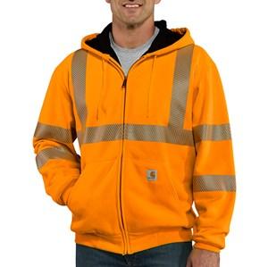 Carhartt Hi-Vis Thermal-Lined Sweatshirt in Orange