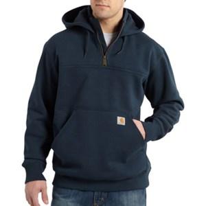 Heavyweight Hooded Zip Mock Sweatshirt