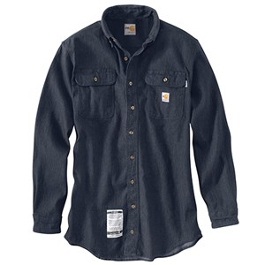 Flame Resistant Washed Denim Work Shirt