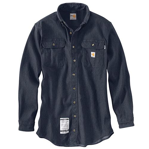 Flame resistant washed denim work shirt for Flame resistant work shirts