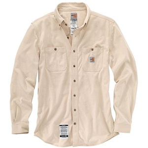 Carhartt FR Force Cotton Hybrid Shirt in Sand