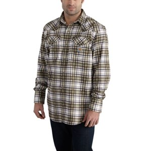 Carhartt FR Snap-Front Plaid Shirt