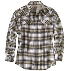 Carhartt FR Snap-Front Plaid Shirt