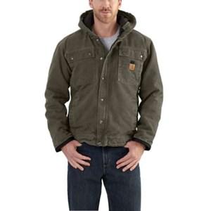 Carhartt Sherpa Lined Bartlett Jacket in Moss