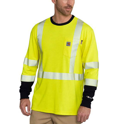 Carhartt Fr Force Hi Vis Long Sleeve Shirt 102905