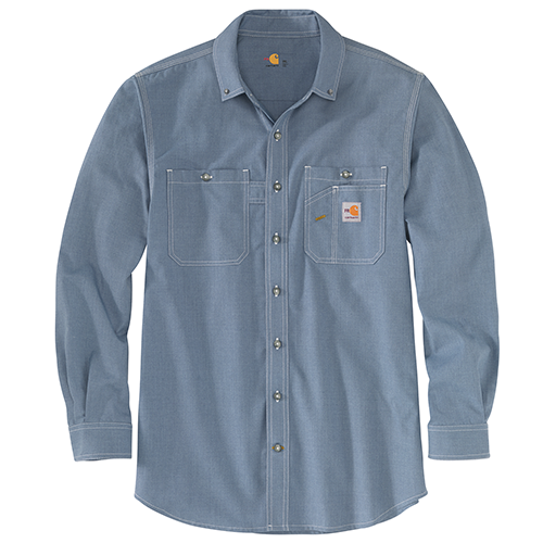 FR Carhartt Force Original Fit Lightweight Long-Sleeve Button Front Shirt