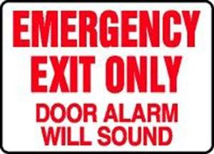 10X14 EMERGENCY EXIT ONLY DOOR ALARM