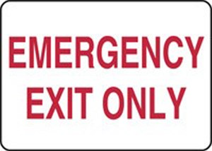 10X14 EMERGENCY EXIT ONLY