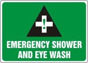10X14 EMERGENCY SHOWER & EYE WASH