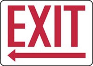 10X14 EXIT PL ARROW LEFT