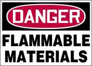 10X14 FLAMMABLE MATERIALS