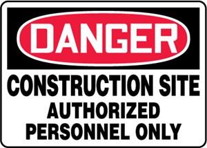 10X14 PLASTIC SIGN  DANGER