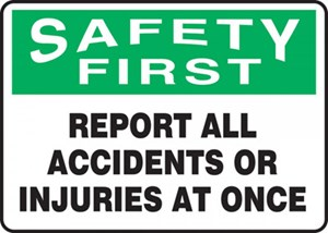 10X14 REPORT ALL ACCIDENTS