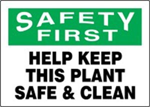 10X14 SAFETY FIRST Plastic