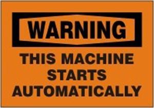 10X14 THIS MACHINE STARTS AUTOMATICALLY