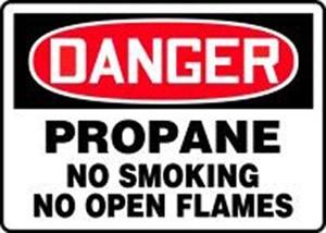 10X14 VP DNG PROPANE NO SMOKING
