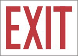 10X14 VP EXIT Red on White