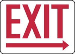 10x14 EXIT (ARROW RIGHT)