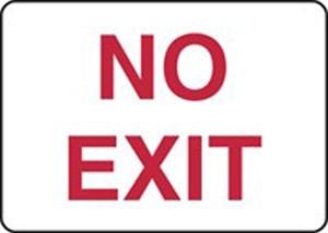 10x14 NO EXIT