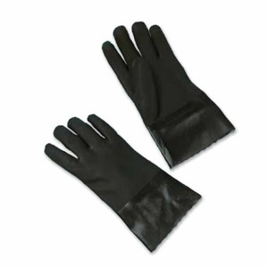 Black PVC Double Dipped Gloves- 12 per box