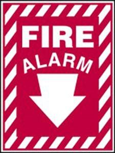 14X10 FIRE ALARM (ARROW)