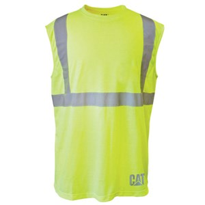CAT Workwear Hi-Vis Sleeveless Tee